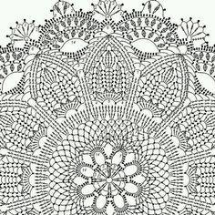 schema na hackovanie by patricia kristoffersen - Crochet Brazil Crochet Doily Rug, Crochet Doily Diagram, Crochet Carpet, Crochet Rug Patterns, Crochet Tablecloth, Doily Patterns, Diy Crafts Crochet, Rugs, Julia Hart
