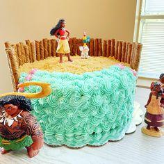 Moana Theme Cake, Moana Birthday Party Theme, Moana Themed Party, Moana Party, First Birthday Parties, Birthday Ideas, Daddy Birthday, Twin Birthday, Birthday Cake