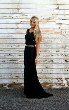 gold belt for black formal dress