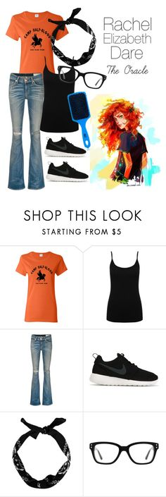 """""""Rachel Elizabeth Dare - Percy Jackson and the Olympians/Heroes of Olympus"""" by themarveldemigod ❤ liked on Polyvore featuring M&Co, rag & bone/JEAN, NIKE, New Look, Converse and The Wet Brush"""