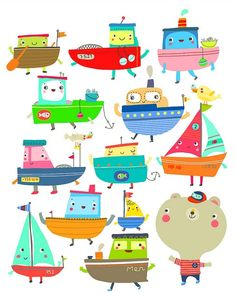 .boat illustrations
