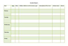 ORGANIZATION -  Emma's Place Incident Report, Caregiver, Names, Organization, Board, Getting Organized, Organisation, Tejidos, Planks