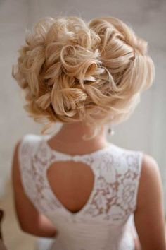 Curly Big Bun Hairstyles for Brides