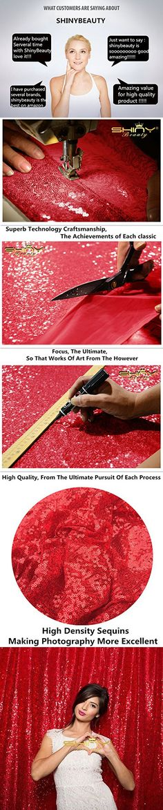 ON SALE 4FTx7FT Sequin backdrops,Red Sequin photo booth backdrop, Party backdrops, Wedding backdrops, sparkling backdrops , Christmas decoration (Red)