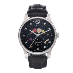 GUCCI Stainless Steel Lizard G-Timeless Moonphase Star Planet Quartz Watch Multi-Color 426555 Elegant Watches, Stylish Watches, Luxury Watches, Cool Watches, Army Watches, High End Watches, Spring Watch, Moon Phases, Casio Watch