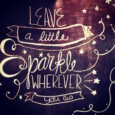 Leave a little sparkle chalk wall art