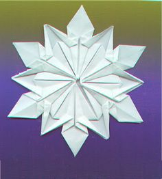 Origami Maniacs: Origami Snowflake by Dennis Walker