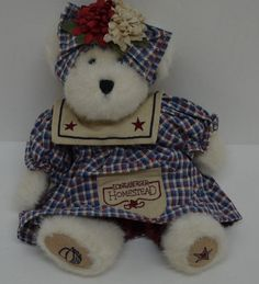 "Boyds Bears Glory Steadsbeary Bear Plush Longaberger Homestead Jointed 10"" NEW  #AllOccasion http://stores.ebay.com/Lost-Loves-Toy-Chest/_i.html?image2.x=0&image2.y=0&_nkw=boyds"