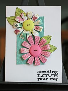 Could make these flowers out of circles, love them!
