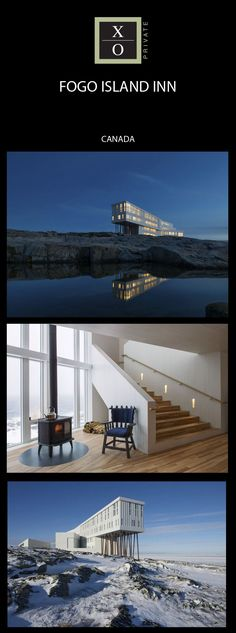 The warmest of welcomes comes from Fogo Island Inn one of the world's more remote destinations Newfoundland And Labrador, Fogo Island Newfoundland, Newfoundland Canada, Beautiful Places To Visit, Places To See, Hotels And Resorts, Best Hotels, Fogo Island Inn, Voyage Canada