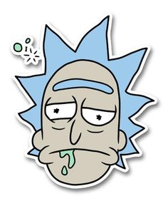 Meme Faces Discover Rick and Morty Drunk Rick Head Sticker Druck Rick Head Sticker Rick And Morty Drawing, Rick And Morty Tattoo, Ricky Y Morty, Rick And Morty Stickers, Bubble Stickers, Aesthetic Stickers, Cartoon Wallpaper, Laptop Stickers, Sticker Design