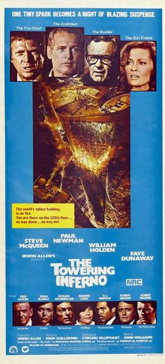 The Towering Inferno vintage movie poster