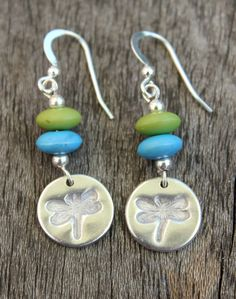 Custom version of my silver dragonfly earrings. They feature embossed silver dragonflies and beautiful beads. Dragonfly jewellery is great for wearing in Summer! Proceeds support my work rescuing poorly and injured wild hedgehogs.