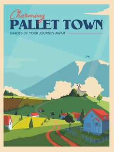 Pokemon Pallet Town Travel Poster 18x24 unframed by Posternaut
