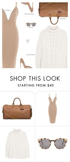 """""""Thursday"""" by amberelb ❤ liked on Polyvore featuring Michael Kors, Autumn Cashmere, Komono, Christian Louboutin and Chanel"""