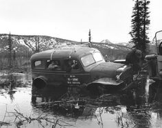Image Corps of Engineers personnel in Truck ton Dodge Carryall inspecting pipeline Yukon Dodge Wagon, Old Dodge Trucks, Dodge Power Wagon, 4x4 Trucks, Diesel Trucks, Jeep 4x4, Jeep Truck, Dodge Vehicles, Lifted Chevy