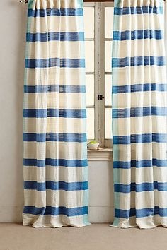 Sanaga Stripe Curtain #anthropologie morning room