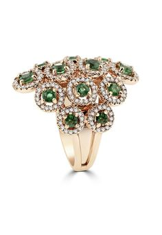 Effy 14K Rose Gold Emerald and Diamond Ring, 1.93 TCW - Final Call - Specials