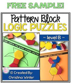 This set of interactive pattern block logic puzzles will have kids begging for more! Easy to use, these brain teasers are a great math center that will keep kids engaged while improving your students' skills needed to solve logic tasks as well as developing their visual discrimination skills.These puzzles are perfect to help your students learn to persevere through challenging tasks. #learnmathfast