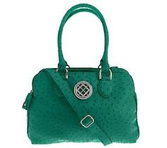 Look no further for the perfect #ColoroftheYear bag... You've found it in this London Fog #Emerald Kelly Satchel with Triple Compartments & Zip Closures.