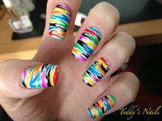 Funky Zebra Nail Art