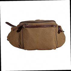 42.45$  Buy here - http://alipk8.worldwells.pw/go.php?t=32741452639 - 10pcs( ASDS Men Waist Fanny Pack Bumbag Bum Shoulder Bag Canvas  Coffee