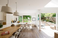 The rear extension of this Randwick, Sydney home saw the creation of high ceilings and open spa...