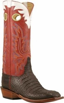 Mens Lucchese Classics Chocolate Hornback Caiman Crocodile Custom Hand-Made Cowboy Boots L8051