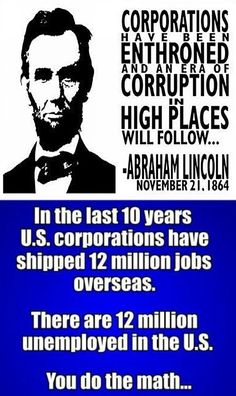 Corporations used their influence over republican congressmen to pass a law that gives tax breaks to corporations that send jobs offshore. President Obama has asked the law to be ended. Republicans blocked the legislation.