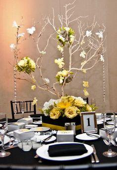 Black, Yellow and White Wedding