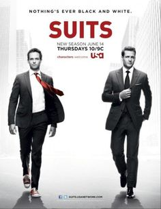USA Network Original Series - Suits stars Patrick J. Adams as Michael Mike Ross and Gabriel Macht as Harvey Specter working at a law firm in NYC. Serie Suits, Suits Tv Series, Suits Tv Shows, Series Movies, Gabriel Macht, Harvey Specter, Specter Suits, Suits Usa, Buy Suits