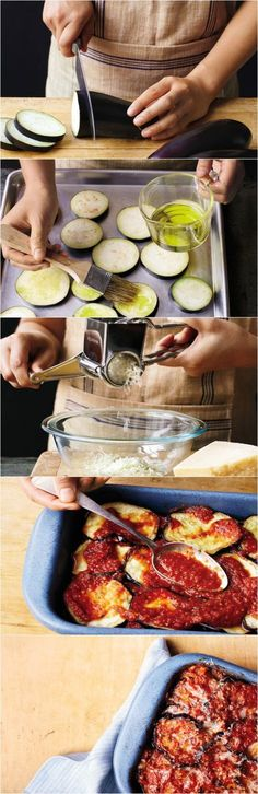 How to make a healthier eggplant parmesan.