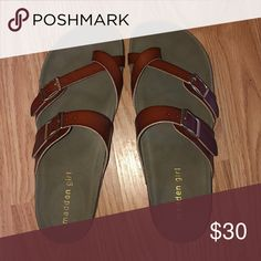 Brand new Worn once tried on! Cant return bc i threw away the box and they do not fit🤦🏻♀️ make me an offer Madden Girl Shoes Sandals Shoe Brands, Birkenstock, Shoes Sandals, Girly, Brand New, Best Deals, Box, Fitness, Closet