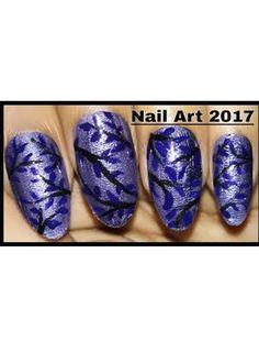 Latest Design Nail Art Tutorial Blue Nail Polish, Blue Nails, Nail Polish Designs, Nail Art Designs, Mickey Mouse Nails, Beautiful Nail Polish, Flower Nails, Design Tutorials, Pedicure
