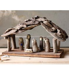 Kalalou Driftwood Nativity Set - Set Of 2 - So simple, yet so expressive, this artistic driftwood nativity set will give your Christmas a homespun feel. Coastal Christmas, Christmas Home, Christmas Holidays, Christmas Crafts, Christmas Decorations, Christmas Ornaments, Xmas, Celebrating Christmas, Holiday Decor
