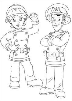 Brandweerman Sam Kleurplaten voor kinderen. Kleurplaat en afdrukken tekenen nº 47