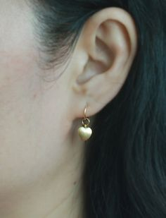 14K Gold Cartilage hoop earring with Heart charm,Tiny Cartilage Ring,Helix,Tragus,Ear Lobe,Nose Ring,Septum Ring,piercing / Price per item by TakeOnMe7 on Etsy