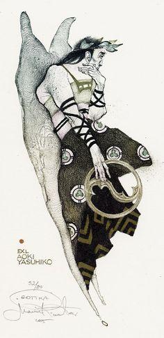 Ex Libris bookplate by Czech-based artist, Marina Richter (Moscow, b.1962)