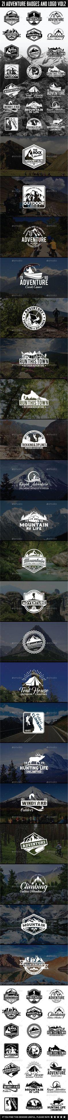 21 Adventure Badges and Logo Vol2 - Badges & Stickers Web Elements