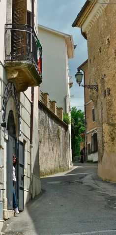 'Picinisco Streetscape' by OldSchoolTraveller Photographs, Italy, Italia, Photos