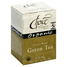 Choice Organic Classic Green Tea, 1.1 Ounces 16-Count Box (Pack of 6) >>> Click image to review more details. (This is an affiliate link)