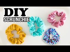 How To Make Scrunchies, Hair Scrunchies, Youtube How To Make, Brooklyn And Bailey, Puffy Paint, Beaded Brooch, Easy Sewing Projects, Diy Videos, Kind Mode