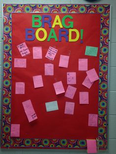 Brag Board in the Family and Consumer Science Department at Adair County High School