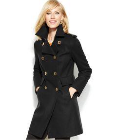 MICHAEL Michael Kors Double-Breasted Pea Coat - Coats - Women - Macy's