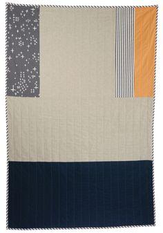 hopewell - kelton 1:  cotton + linen + natural cotton batting + serigraph