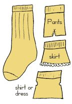 clothes from sock for dolls