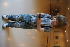 Boy Style. Little boy fashion. Suspenders: American Apparel, Shirt: Alternative, Jeans: Dopodopo, Shoes: Ralph Lauren