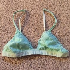 Mint Lace Bralette New without tags, never worn! Intimates & Sleepwear Bras