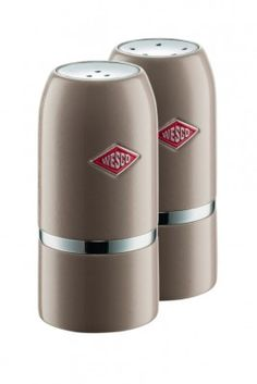 Our Wesco Salt & Pepper Shaker Set in Warm Grey will shake up your culinary skills! #wesco #shakeitup