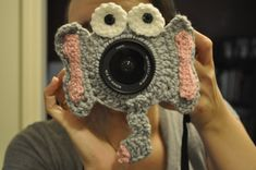 For those kiddies who won't smile... Elephant Camera Lens Buddy - with Squeaky in Ear on Etsy, $13.25